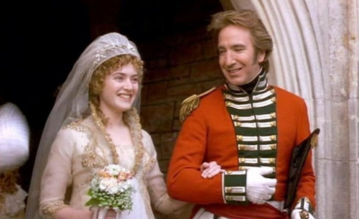 Wedding scene in Sense and Sensibility with Kate Winslet and Alan Rickman